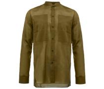 Schmales Hemd mit Stehkragen - men - Baumwolle