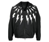 Leichte Jacke mit Blitz-Print