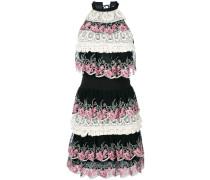 tiered lace trim dress