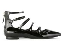 patent leather ballerinas
