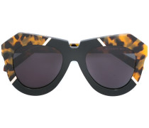 oversized tortoiseshell trim sunglasses