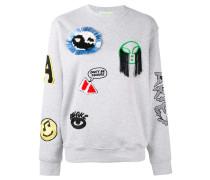 - Sweatshirt mit Patches - women