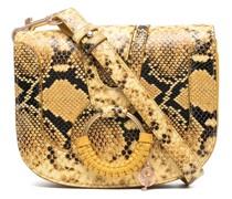 Schultertasche mit Schlangen-Effekt