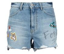 Jeans-Shorts mit Patch