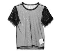 Semi-transparentes T-Shirt mit Fransen