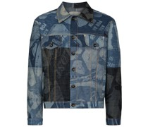 Foreshore Patchwork-Jeansjacke
