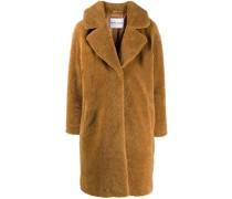 faux-shearling midi coat