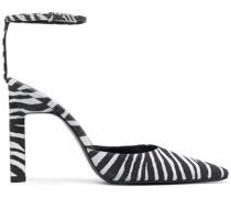 Pumps mit Zebra-Print