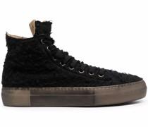 Texturierte High-Top-Sneakers