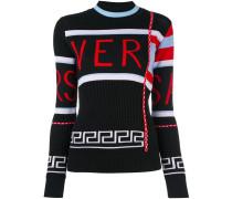 contrast logo sweater