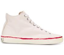 High-Top-Sneakers mit Kritzel-Print