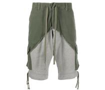 Halbhohe Shorts mit Kontrasteinsatz