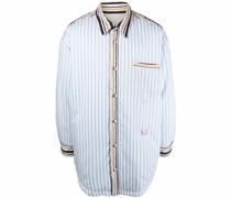 Gefütterte Oversized-Hemdjacke mit Streifen