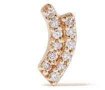 14kt 'Rainbow' Gelbgoldohrstecker mit Diamanten