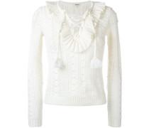 Pullover mit geschnürtem Ausschnitt