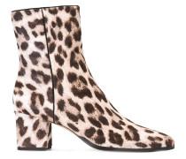 Stiefeletten mit Leoparden-Muster