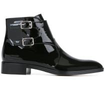 varnished ankle boots