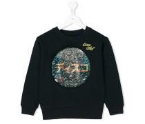 Sweatshirt mit Disco-Kugel-Print
