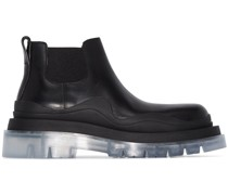transparent-sole chunky ankle boots