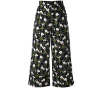 floral cropped trousers - women - Baumwolle - 46