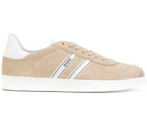Samt-Sneakers aus Leder