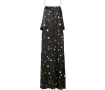 Camisole-Kleid mit Knopf-Prints