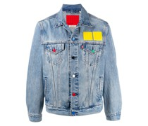 Jeansjacke mit Lego-Patches