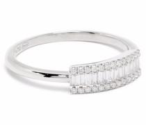 18kt Weißgoldring mit Diamanten