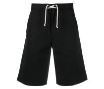 logo-patch wide-leg shorts
