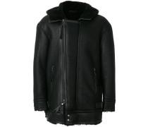 Shearling-Jacke mit doppeltem Reißverschluss