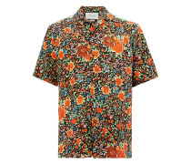 Seidenhemd mit floralem Print - men - Seide - 48