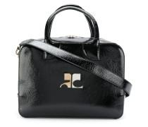 Lacklederhandtasche mit Logo