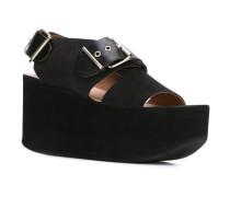 Flatform-Sandalen mit Schnallen