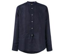 Hemd mit Stehkragen - men - Leinen/Flachs - 40
