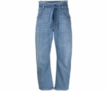 Tapered-Jeans mit Paperbag-Taille