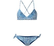 print cross back bikini - women