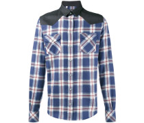 Checked shirt with shoulder yokes