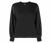 Sweatshirt mit Popeline-Ärmeln