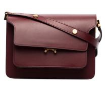 Burgundy trunk medium leather shoulder bag