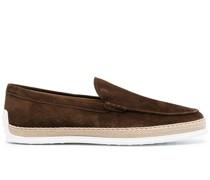 Loafer mit Espadrille-Detail