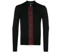 contrast-trim cardigan