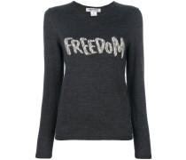 """Pullover mit """"Freedom""""-Aufschrift"""