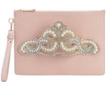 embellished hand strap clutch