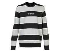 striped logo sweatshirt - men