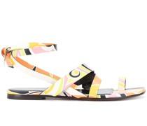 'Quirimbas' Sandalen mit Print
