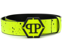 Paint Splatter branded belt