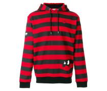 monster striped hoodie