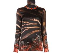 'Zebra Rose' Langarmshirt mit Rollkragen