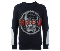 Sweatshirt mit Totenkopf-Applikation