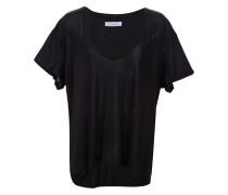 T-Shirt mit tiefem V-Ausschnitt